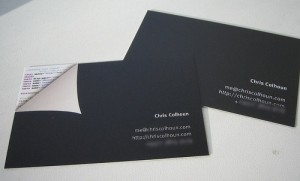 Creative and unique business card